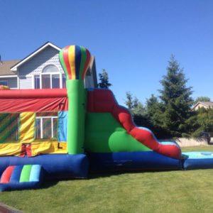 bouce house water slide