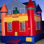boys castle bounce house