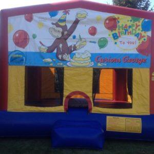 curious george bounce house