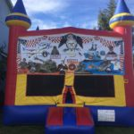 military forces bounce house